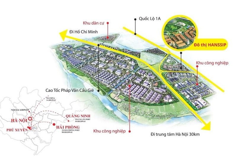 Dự án Inoha City Phú Xuyên nằm ở vị trí đắc địa phía Nam Hà Nội