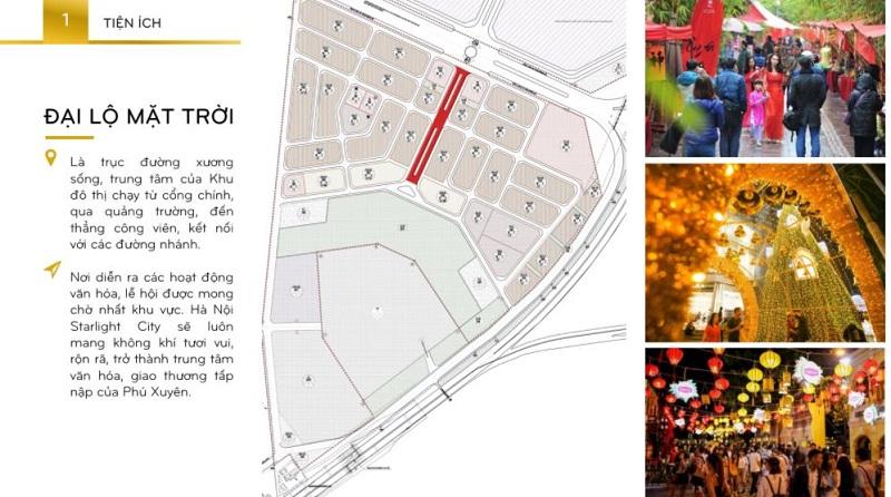 Đại lộ mặt trời là trục đường xương sống tại Inoha City Hà Nội
