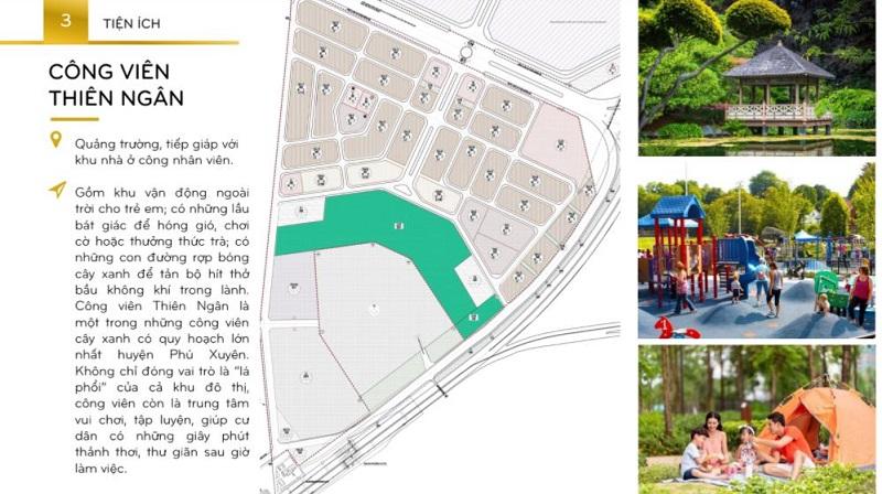 Công viên xanh bên trong KĐT Inoha City Phú Xuyên - Hà Nội